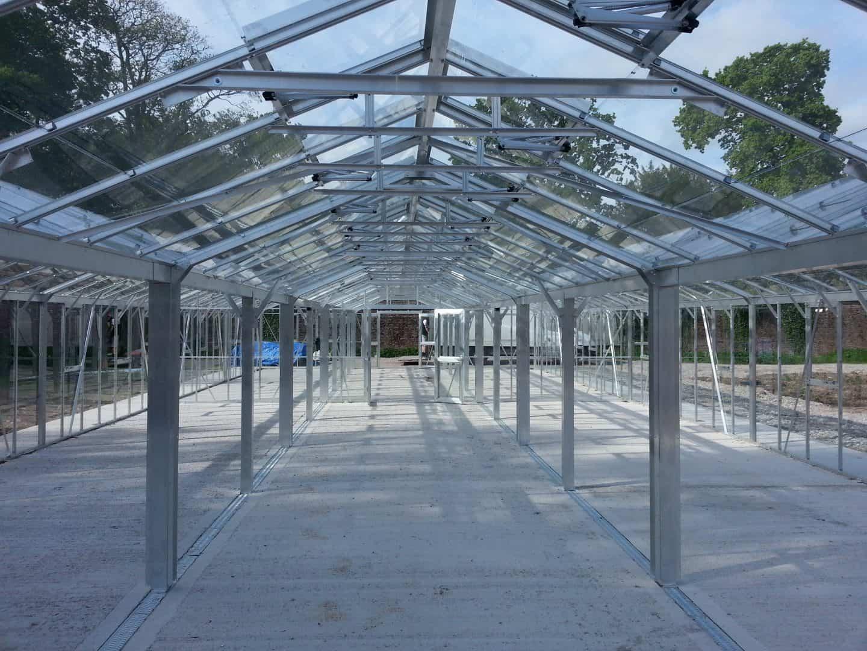 Inside An 80ft Long Triple Ridge Greenhouse